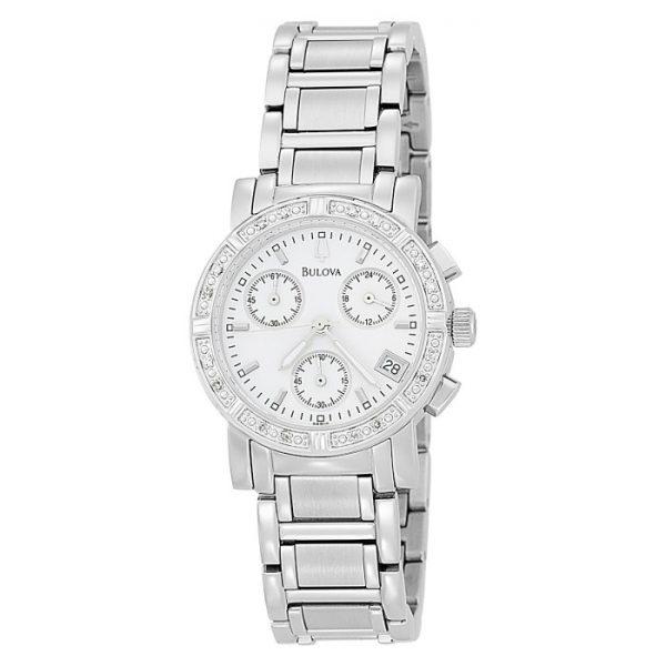 Bulova Women's 96R19 Diamond Chronograph Watch