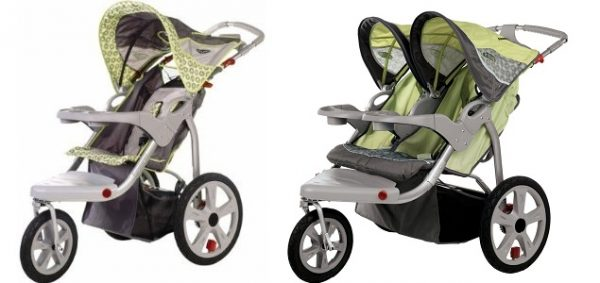 Instep Safari Single and Double Jogging Stroller