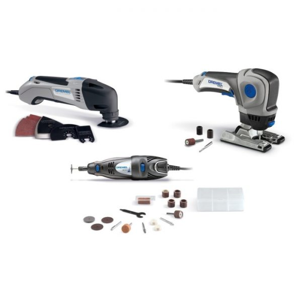Dremel Three Tool Combo Kit, Rotary Tool, Multi-Max Oscillating Tool, Trio cutting tool