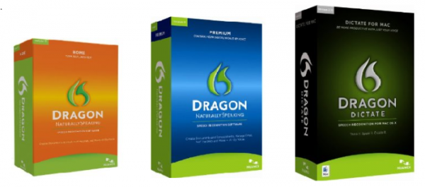 Dragon Speak Naturally Home, Premium and Dictate