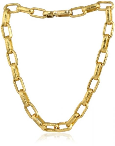 "GURHAN ""Hoopla"" High Karat Gold Chain Necklace"