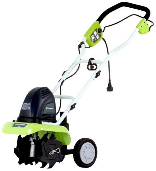 GreenWorks 27012 10-Inch 8 Amp Electric Cultivator/Tiller