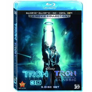 Tron Legacy, Tron The Original Classic Five-Disc Combo Blu-ray 3D Blu-ray DVD Digital Copy 2010
