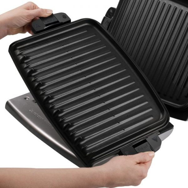 George Foreman GRP72CTTS G-Broil Grill Supreme Electric Nonstick Countertop Grill with Digital Timer Removable Plates