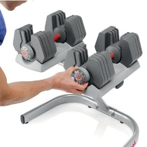Universal Power Pak Dumbbells with Stand