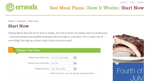eMeals Meal Planner and Shopping List