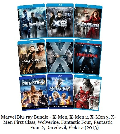 Marvel Blu ray bundle