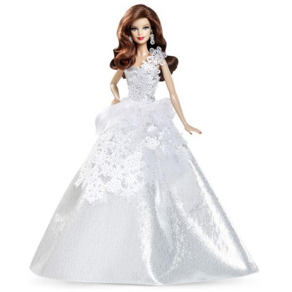Collector 2013 Holiday Auburn Hair Barbie Doll