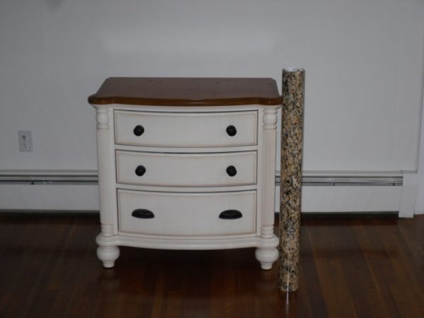 Faux Granite Nightstand Top