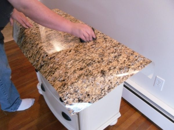 Squeegee Faux granite