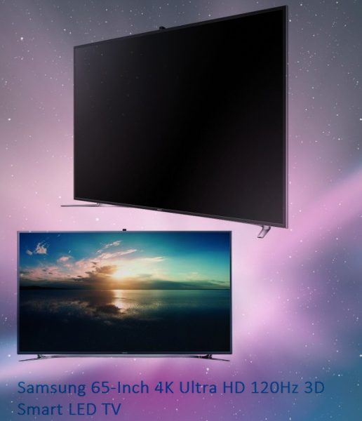 Samsung 65-Inch 4K Ultra HD 120Hz 3D Smart LED TV
