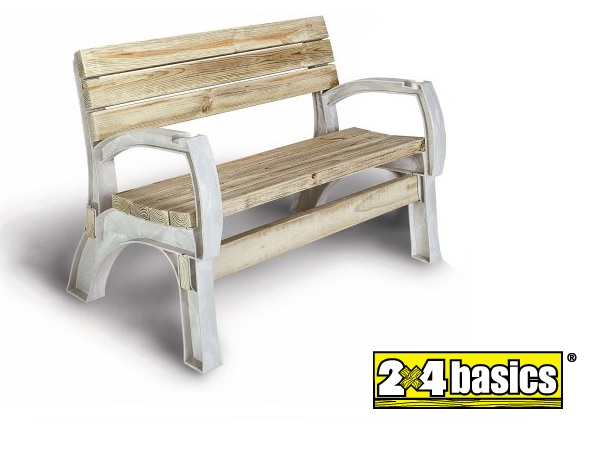 2x4 Basics Bench and/or Chair ends. DIY - Make your own patio or deck bench!