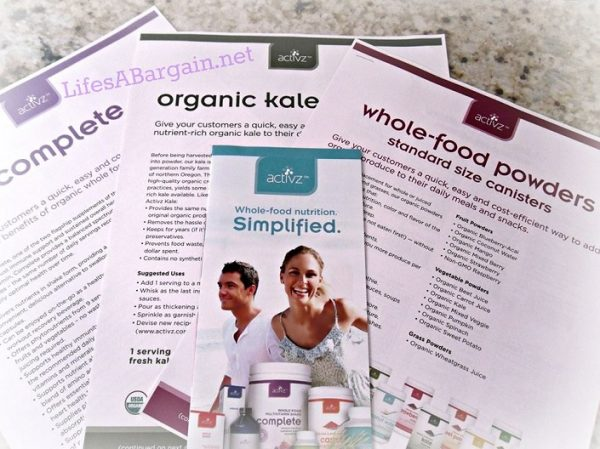 Activz Organic Whole Food Non-GMO Alternatives