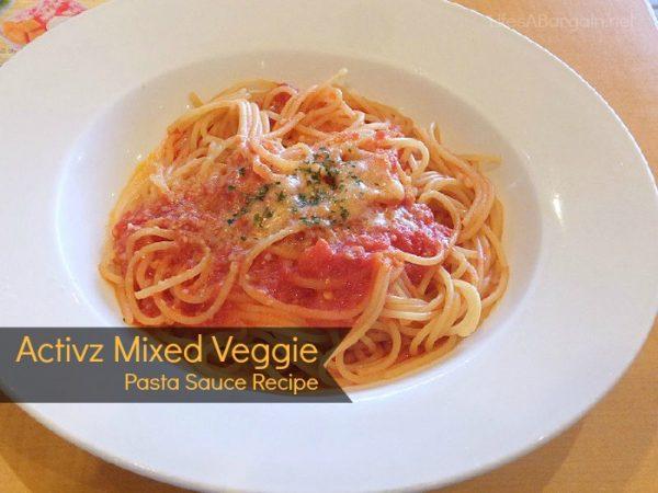 Activz Mixed Vegetable Pasta Sauce Recipe