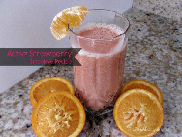 Activz Strawberry Powder, Orange and Banana Smoothie