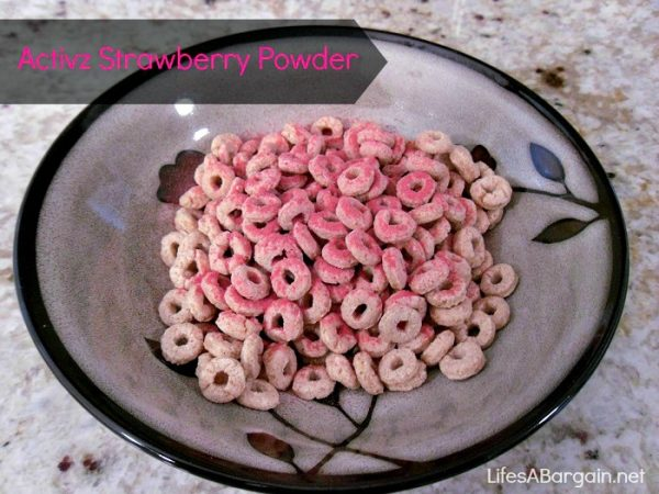 Activz Strawberry Powder on Cereal