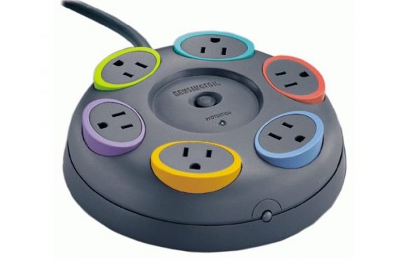 Color Coded Surge Protection Power Strip