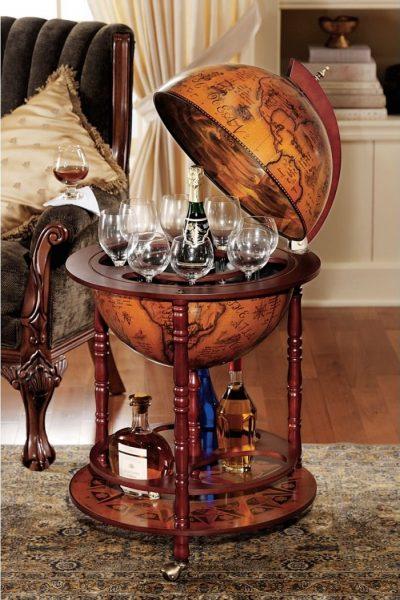 Globe Bar Liquor Cabinet