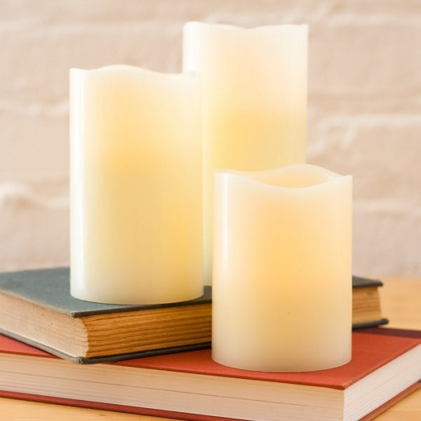 Ivory Wax Flameless LED Candles