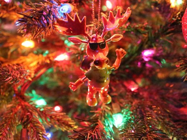 New Hampshire Moose Christmas Ornament