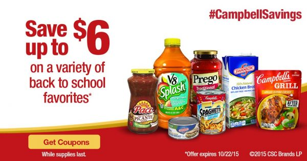 Campbell's Back-to-school Coupons