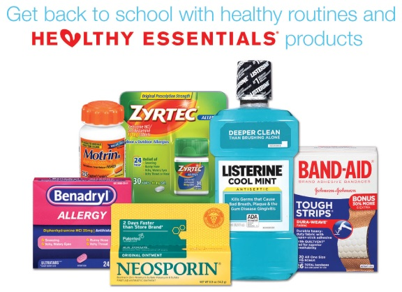 J&J Healthy Essentials Products at Walgreens