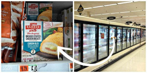 Barber Foods in the Frozen Food Aisle
