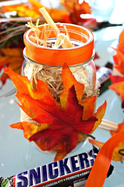 Fall Mason Jar SNICKERS Snack Cup Craft