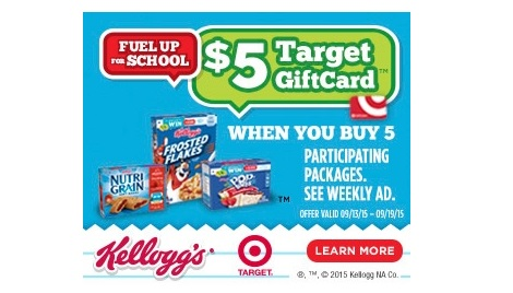 Free Target Gift Card wyb Kellogg's Products