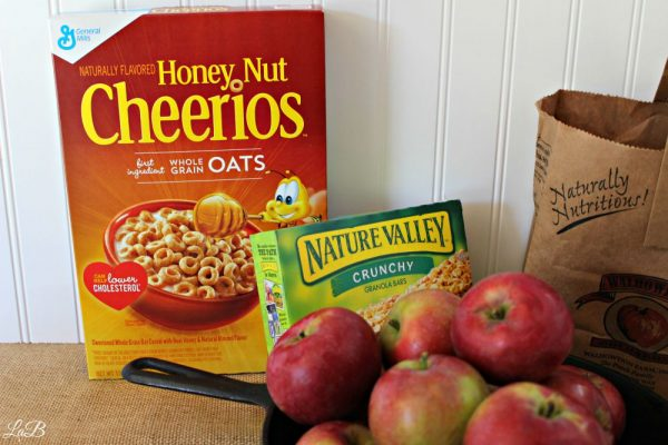 Honey Nut Cheerios and Nature Valley Granola Bars