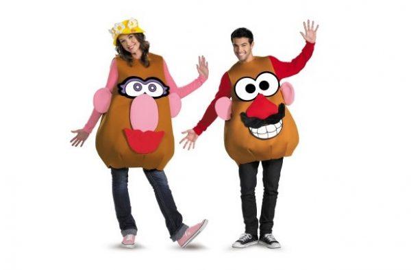 Halloween costumes like Mr and Mrs Potato Head