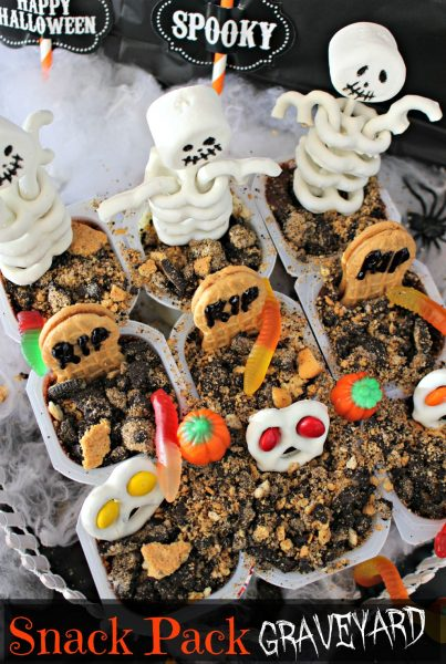 Who's ready for Halloween? I know I am, today we're making a Snack Pack Zombie Graveyard using Snack Pack pudding cups. This spooky graveyard is full of treats!