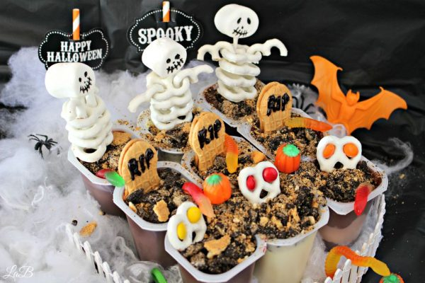 Snack Pack Graveyard Pudding Cups