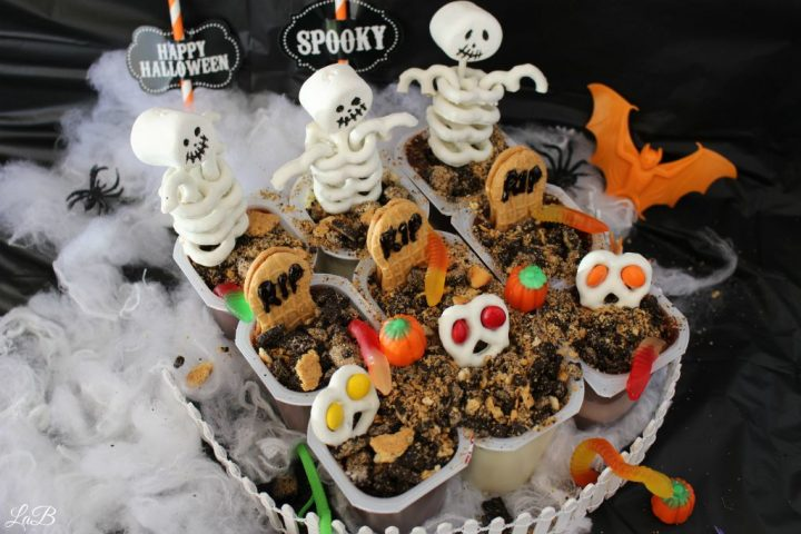 Snack Pack Pudding Cup Graveyard Treat