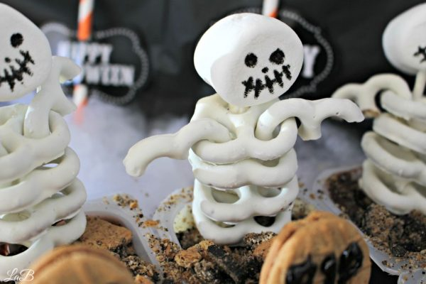 White Chocolate Pretzel Skeletons