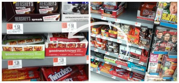 goodnessknows snack squares at Walmart