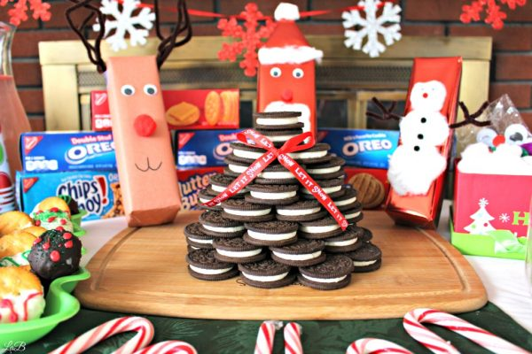 Holiday Gifting Party with OREO Cookies Christmas Tree Centerpiece