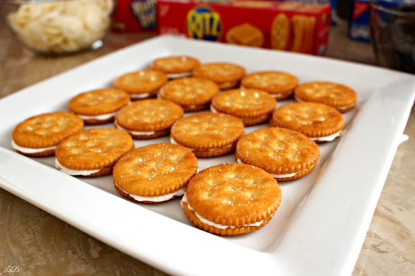 Chocolate RITZ Cracker Sandwich Recipe
