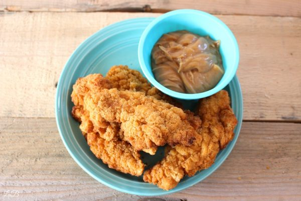 Tyson Chicken Strips and Dipping Sauce