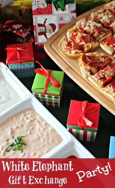 White Elephant Gift Exchange Ideas and #EasyHolidayEats! Discover delicious party foods and learn how to thrown your own White Elephant Gift Exchange!