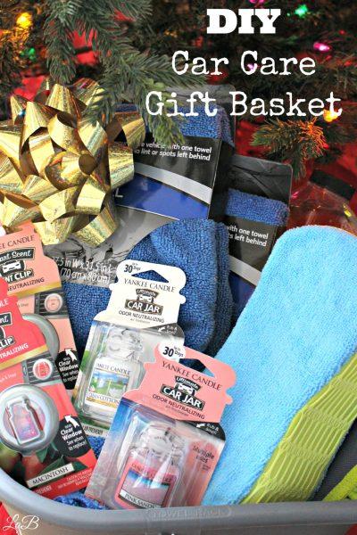 DIY Car Care Gift Basket Gift