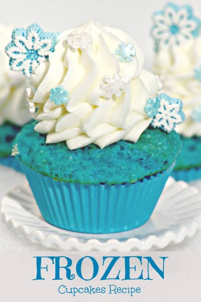 FROZEN Themed Cupcake Recipe