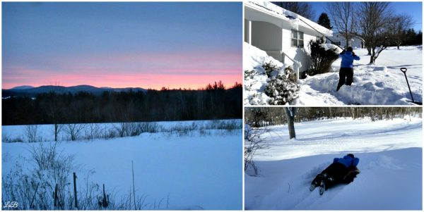 Snow and Sunrise in New England