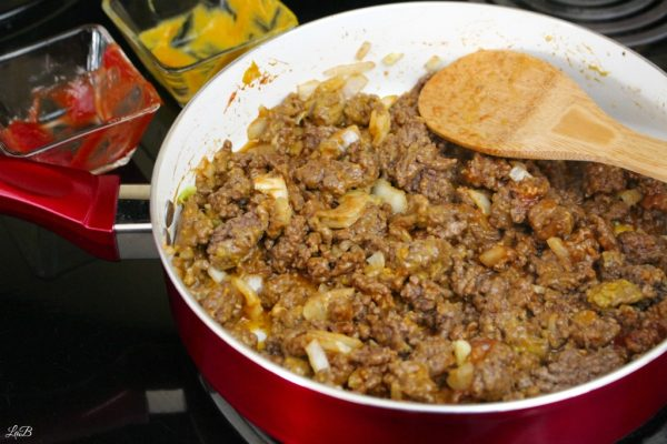 Browning Beef Ingredients for Chili