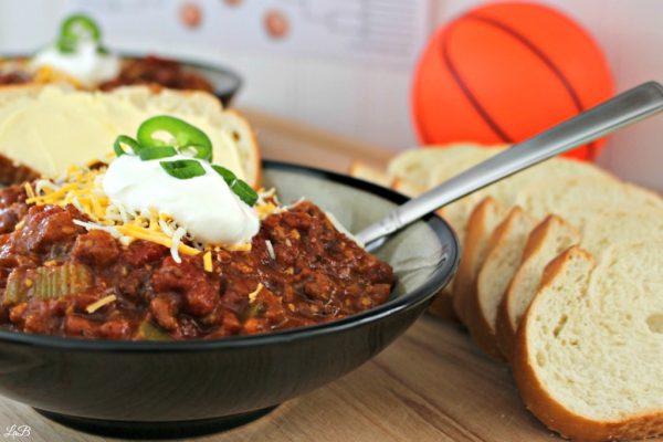 Chili Recipe and Basketball Bracket Sheets