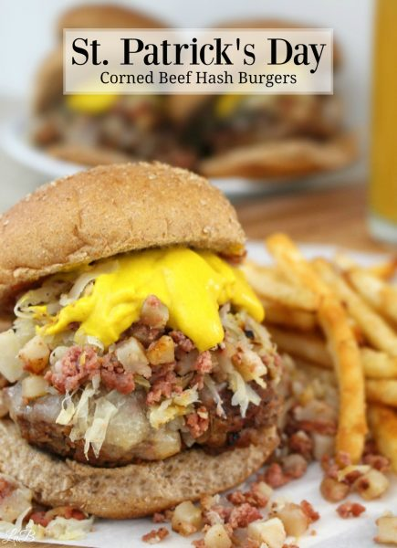 Corned Beef Hash and Kraut Burger Recipe! Get this easy recipe to celebrate St. Patrick's Day! Serve it for brunch, lunch, or dinner - everyone will be happy you did! #HowDoYouHash #StPatricksDay
