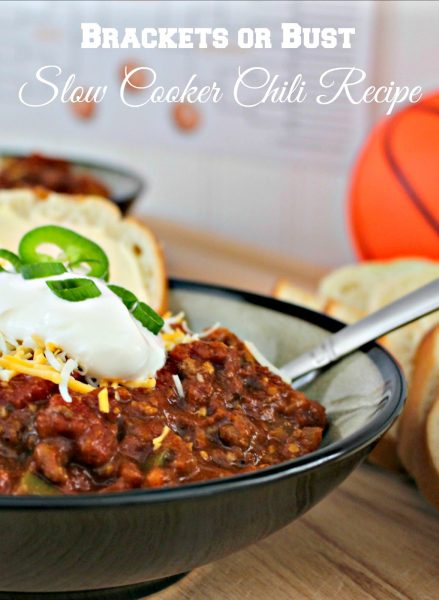 Slow Cooker Chili and Printable Bracketball Score Sheets