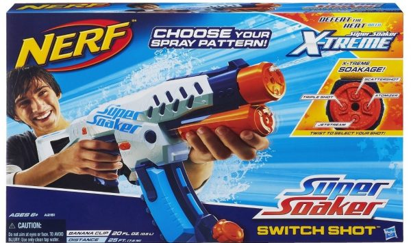 NERF Switch Shot Super Soaker Water Gun