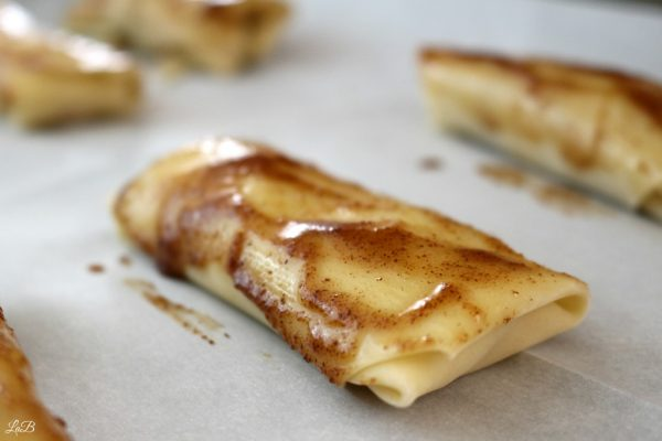 Buttered Brown Sugar Cinnamon Egg Roll Dessert