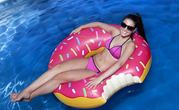 Homer Simpson Donut Inspired Pool Floating Raft
